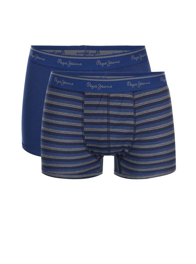 Set de două perechi de boxeri - albastru Pepe Jeans Sidcup