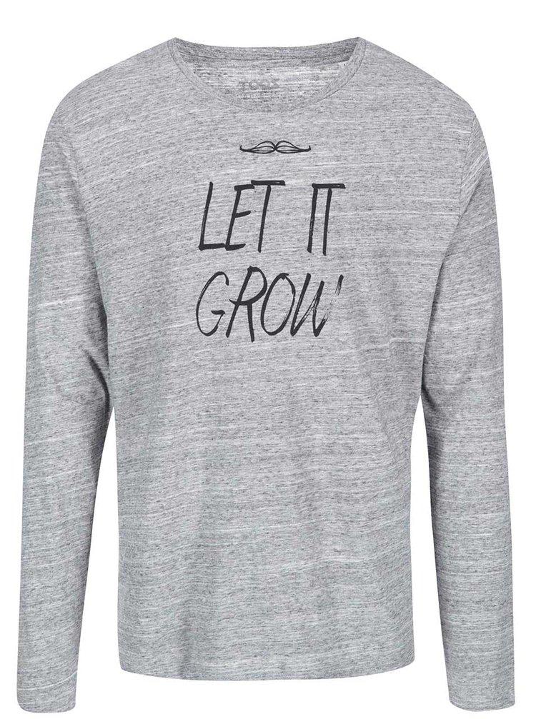 Šedé žíhané pánské triko s dlouhým rukávem ZOOT Originál Let It Grow