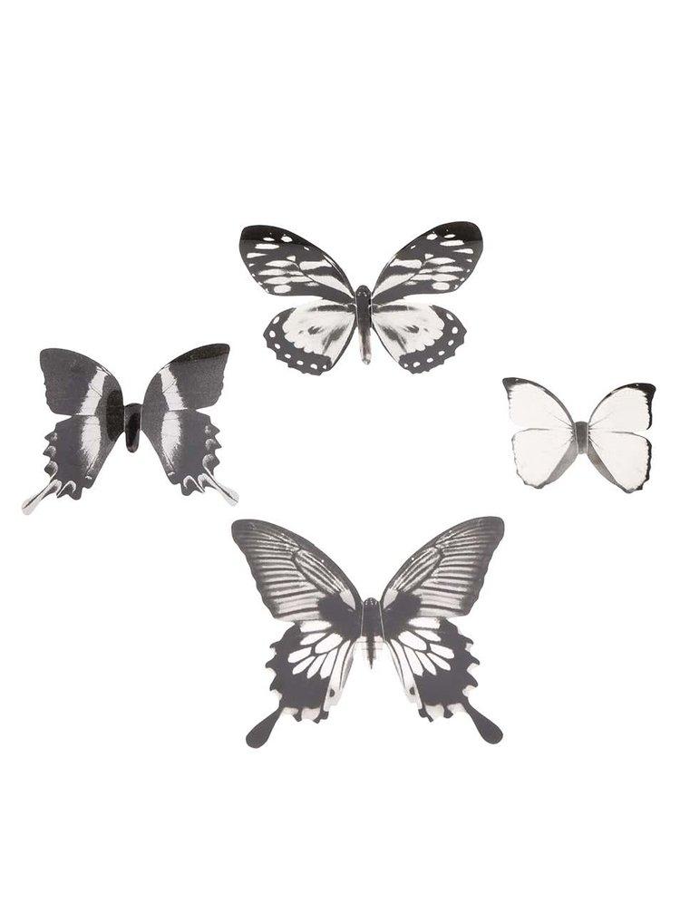 Sada 16 nástěnných samolepek ve tvaru motýlků Umbra