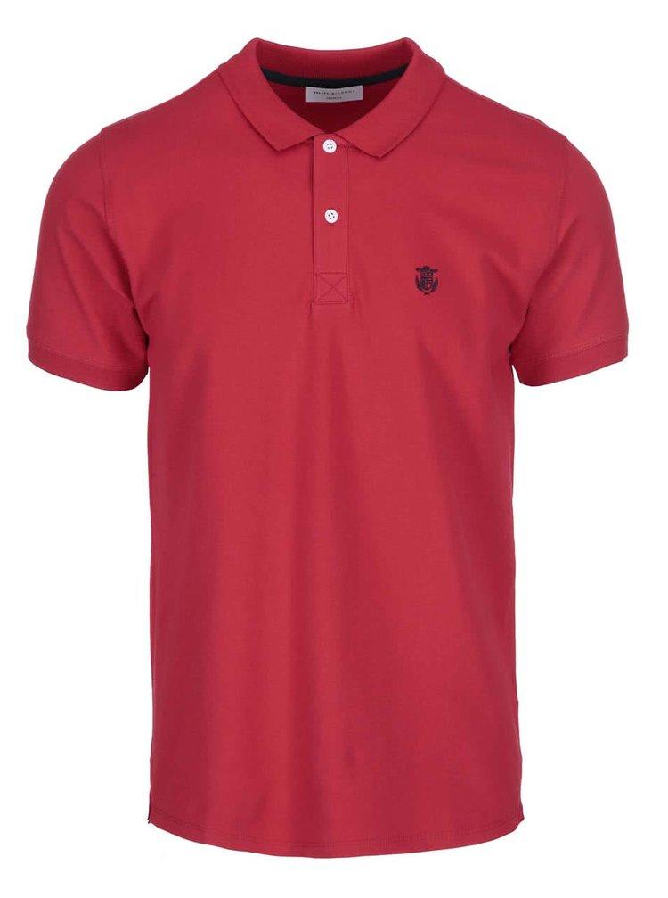 Tricou polo Selected Homme Haro - roșu