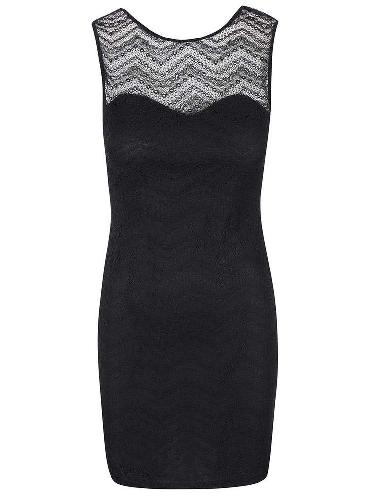 Černé krajkované šaty SisterS Point Icat