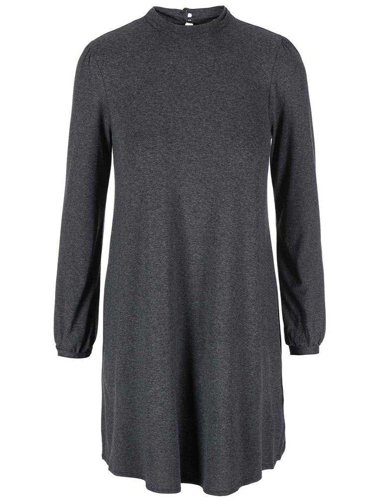 Sivé šaty s dlhým rukávom Dorothy Perkins