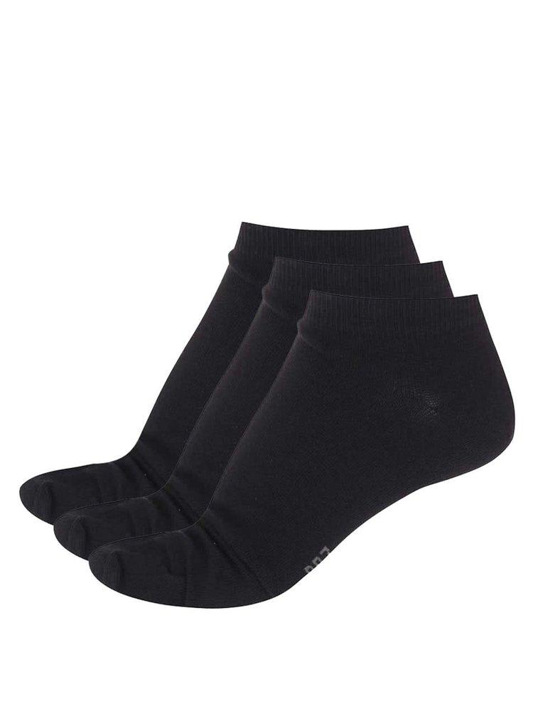 Sada tří kotníkových ponožek v černé barvě CR7