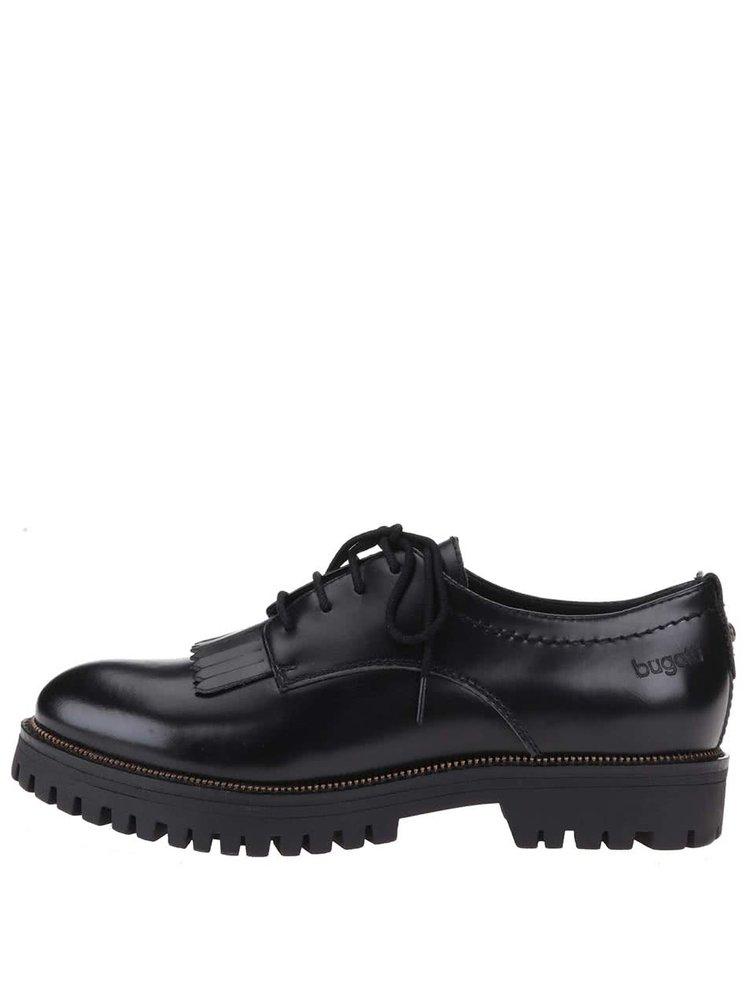 Pantofi Oxford de damă cu talpă groasă Bugatti Iva - negri