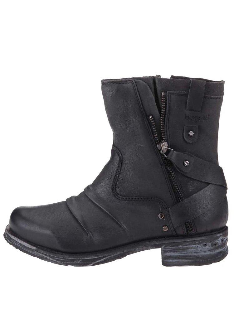 ... Tmavě šedé dámské kožené kotníkové boty bugatti Alexia 9bea4fbc95
