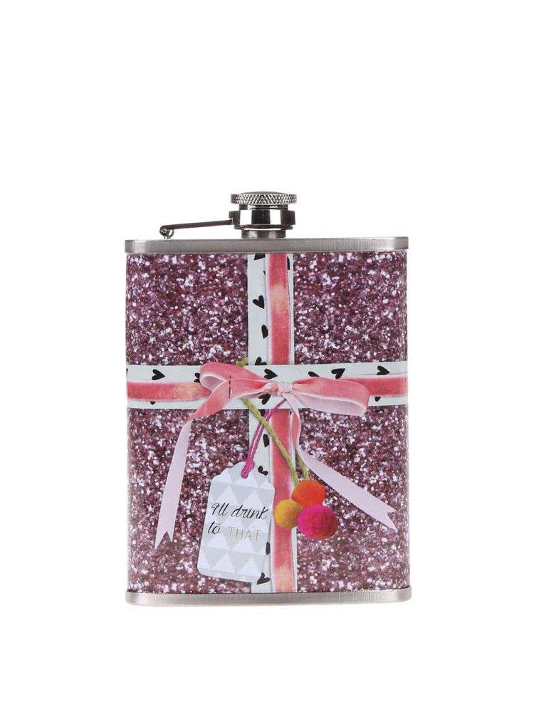 Sticlă Pom Pom Tutti roz tip cadou de Crăciun de la Disaster