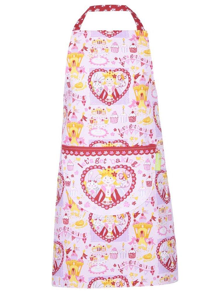 Růžová dětská bavlněná zástěra Cooksmart Chef Princess