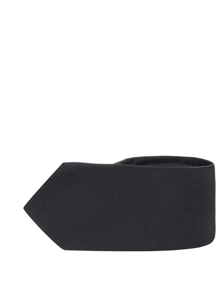 Čierna hodvábna kravata Selected Homme Plain
