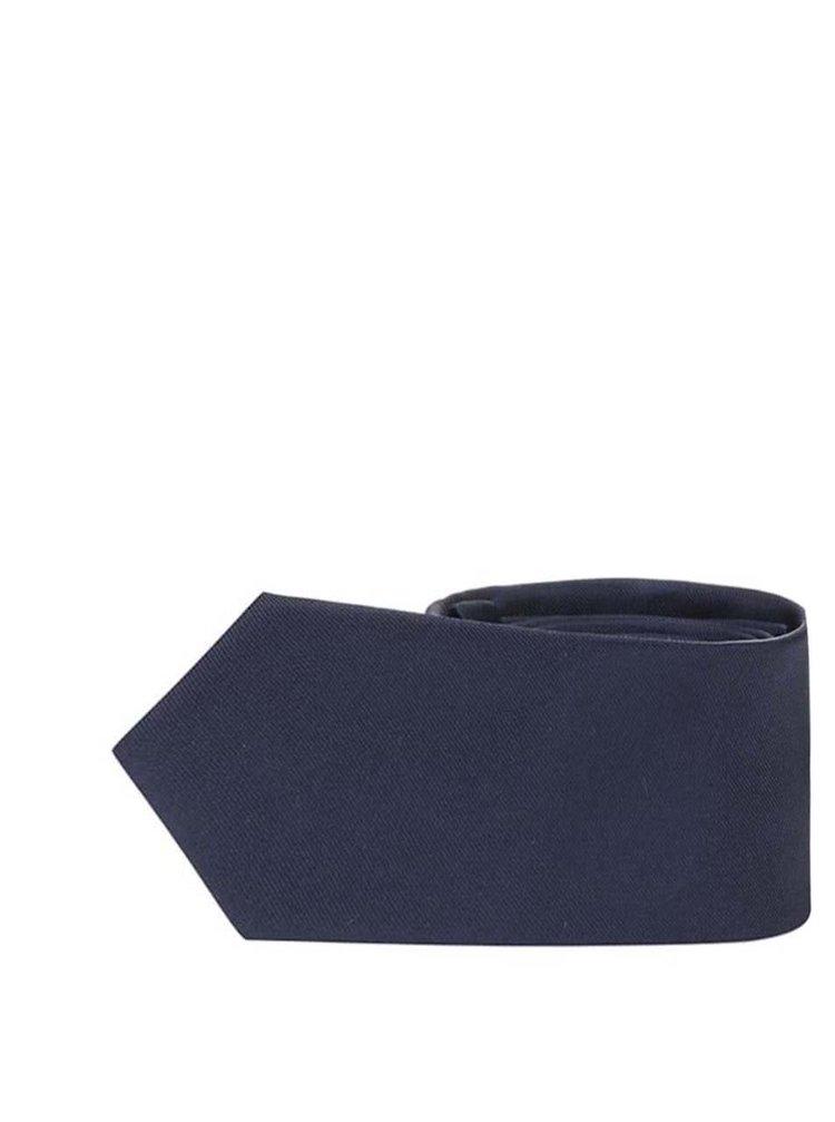 Tmavě modrá hedvábná slim kravata Selected Homme Plain