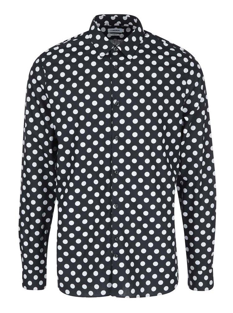 Čierna košeľa s bodkami J.Lindeberg Dani