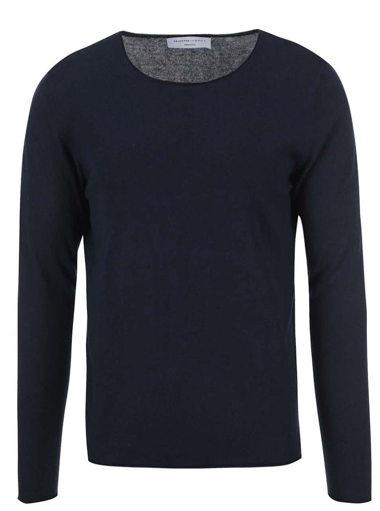 Pulover bleumarin Selected Homme Dome