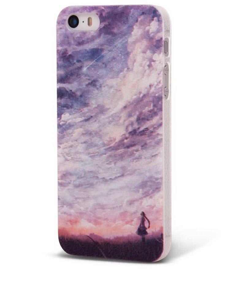 Fialový ochranný kryt na iPhone 5/5s s oblohou Epico Fine Art
