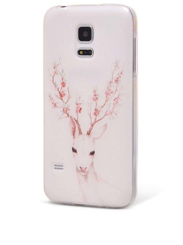 Husă Epico Deer de culoare albă, din plastic flexibil, pentru Samsung Galaxy S5 mini