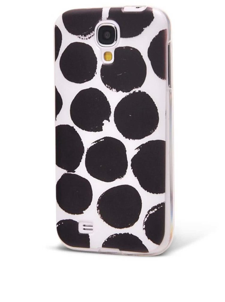 Černo-bílý ochranný kryt na Samsung Galaxy S4 mini Epico Dotsie