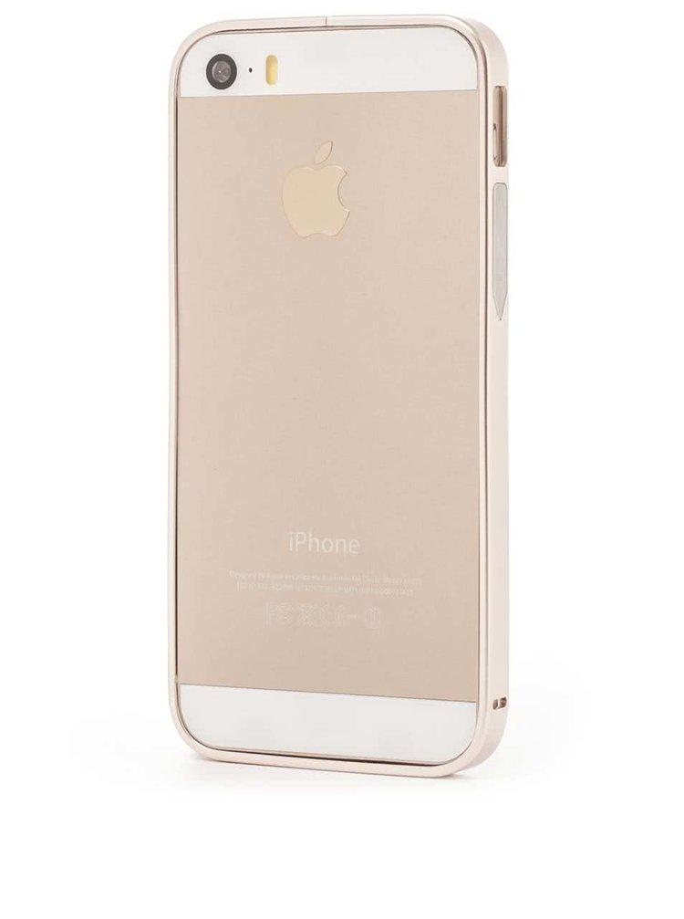 Hliníkový rámik na iPhone 5/5S v zlatej farbe Epico Hero Hug