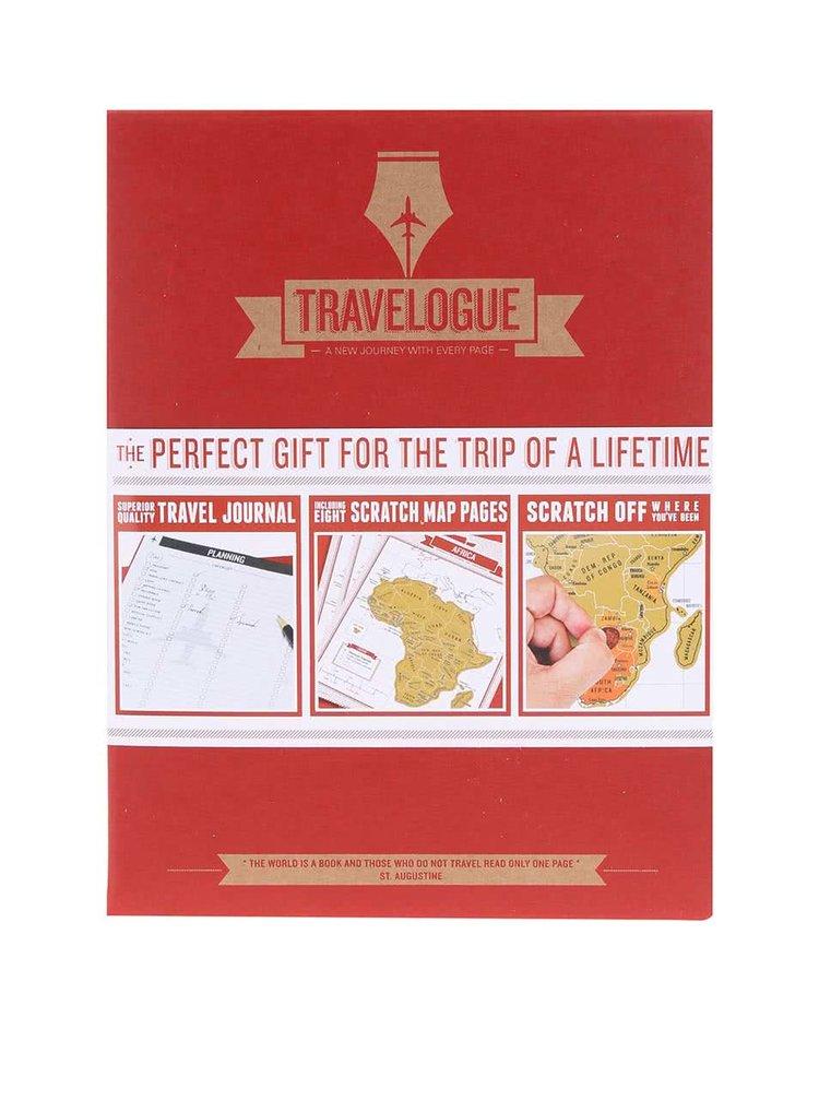 Jurnal de calatorie Luckies Travelogue cu harti razuibile