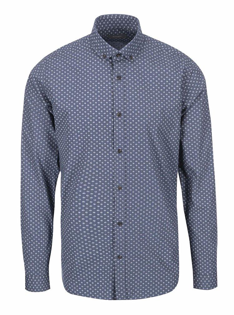 Modrošedá vzorovaná košile Bertoni Malte