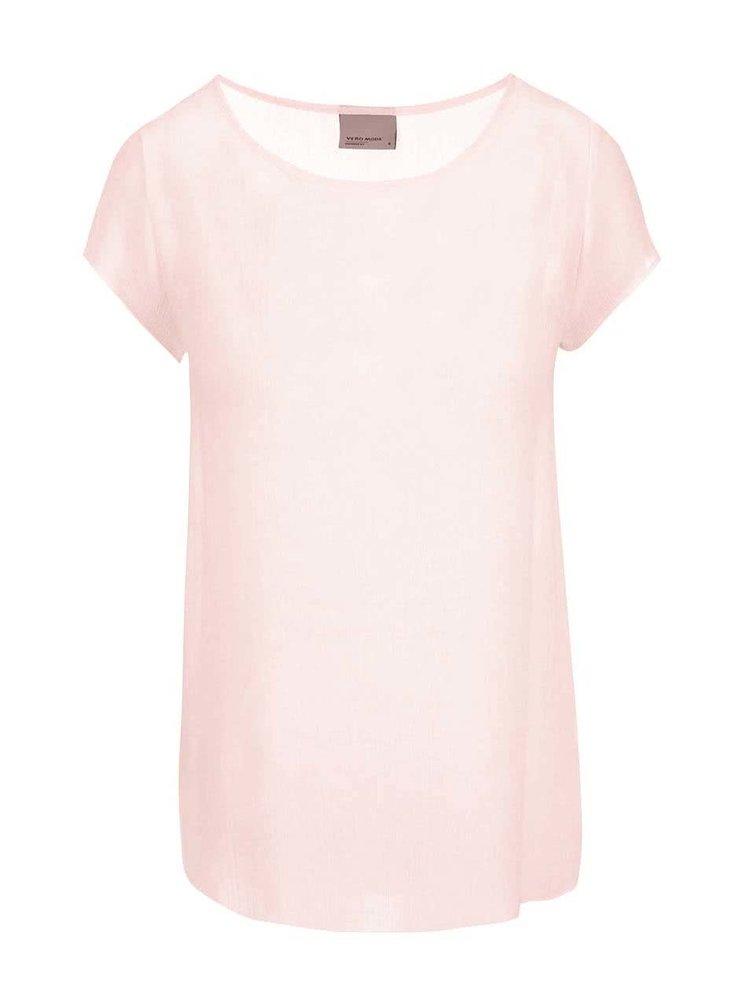Tricou roz deschis VERO MODA Boca