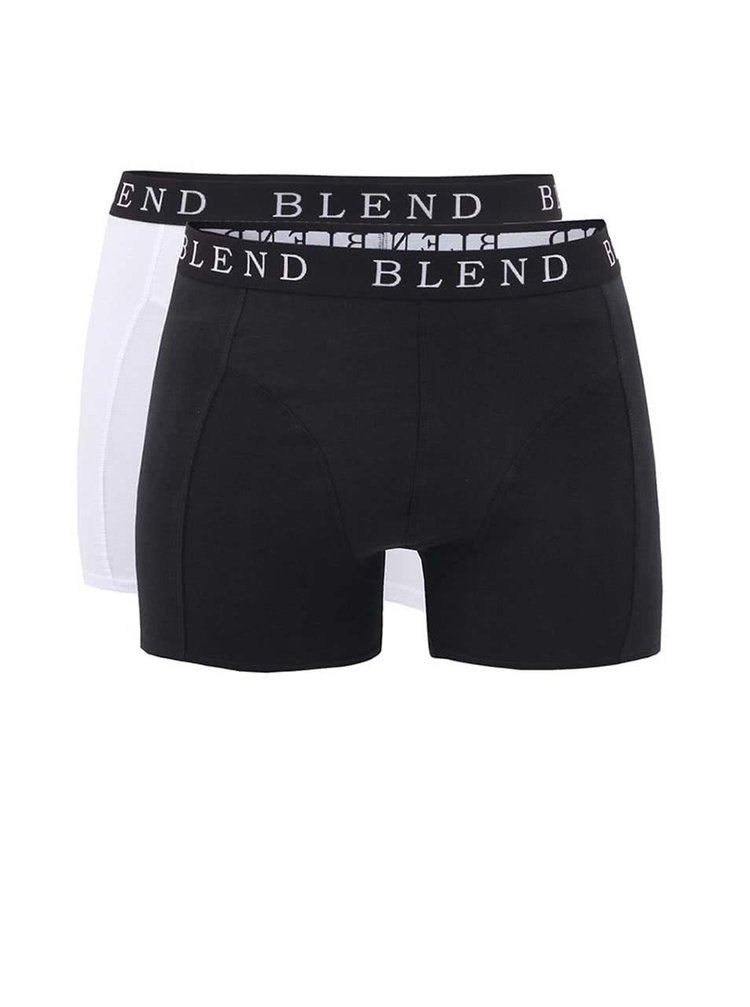 Blend, White and Black Boxer Shorts Set