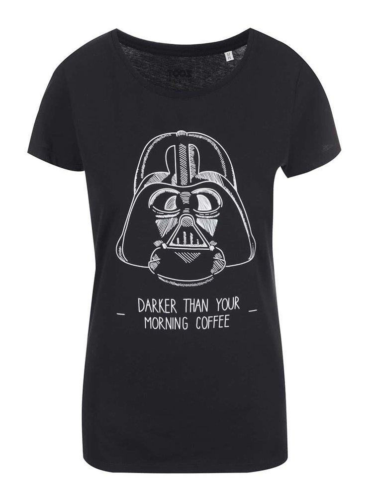 Čierne dámske tričko s potlačou ZOOT Originál Darker Coffee