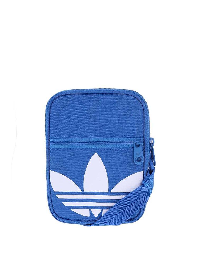 Geantă tip poștaș mică albastru cu alb Adidas Originals