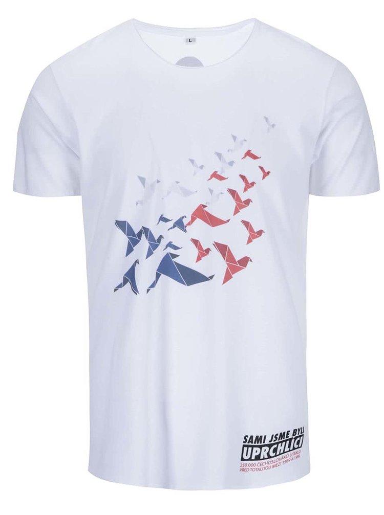 """""""Dobré"""" biele pánske tričko pre OPU a UNHCR"""