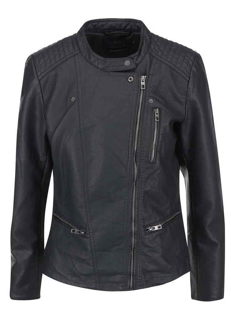 Jacheta gri inchis ONLY Freia din piele sintetica