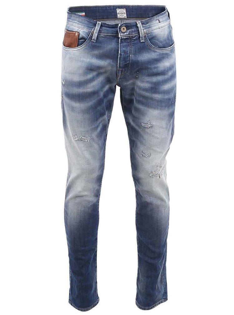 Modré pánské vintage džíny Jack & Jones Glenn
