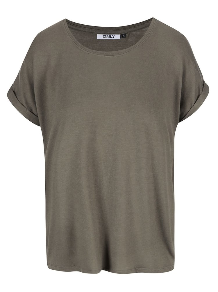 Kaki oversize tričko ONLY Moster