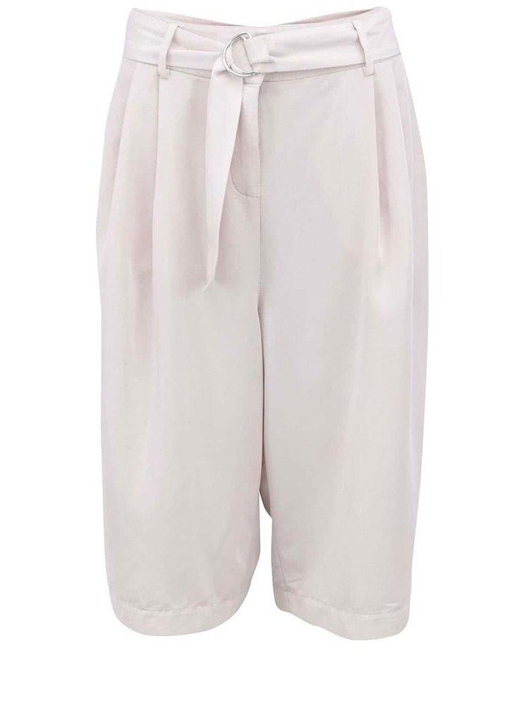 Krémové volnější kalhoty VERO MODA Sussi