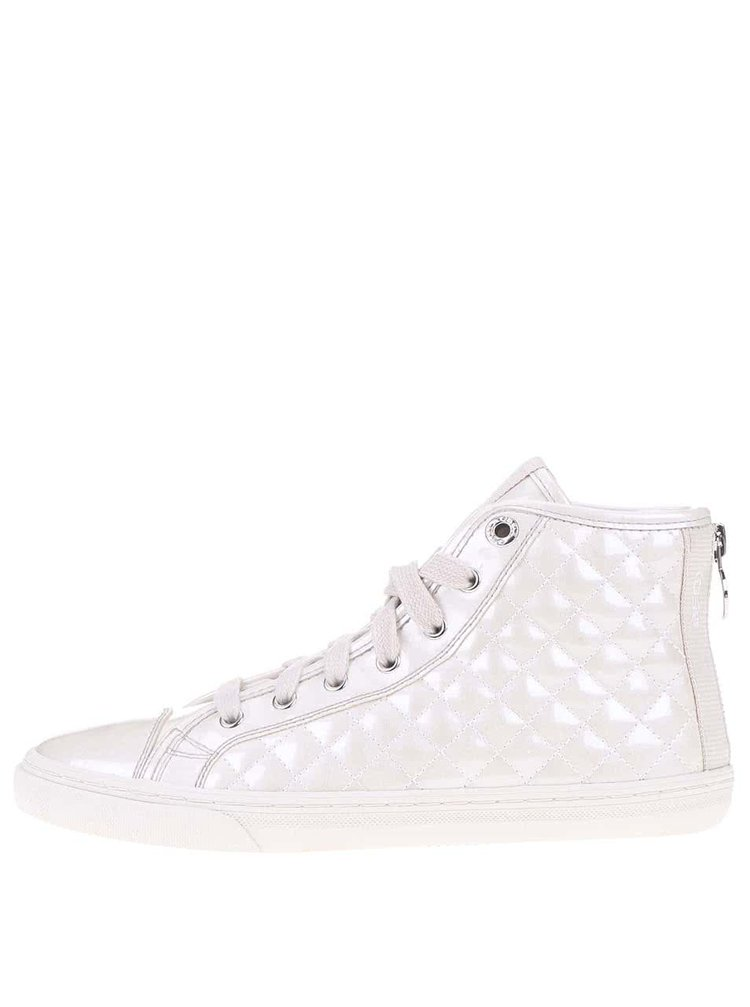 Pantofi sport de damă tip gheată albi GEOX New Club