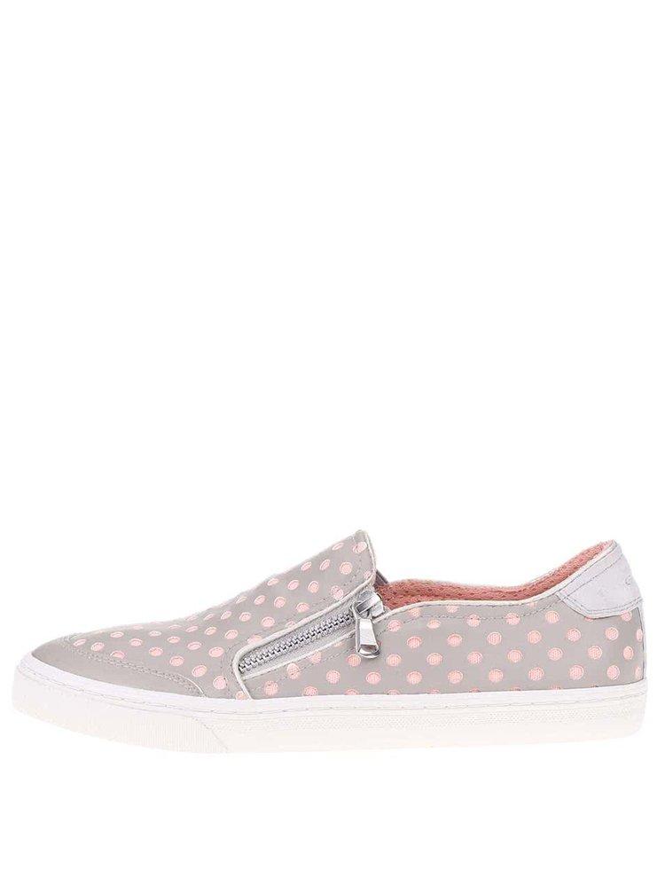 Pantofi sport de damă GEOX New Club roz cu gri
