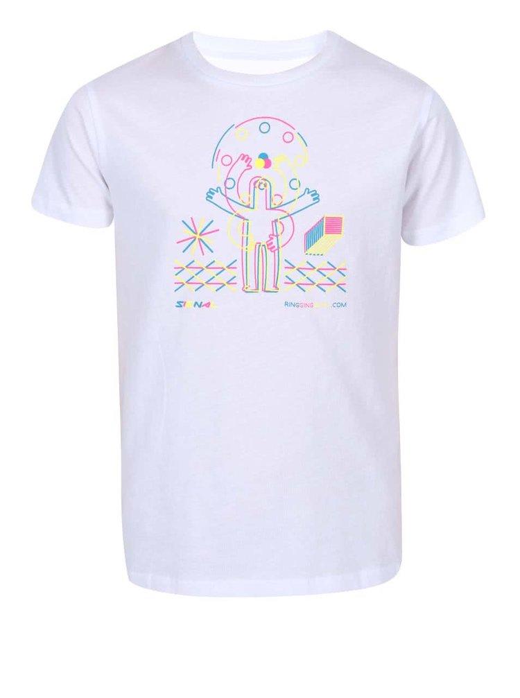 Bílé dětské tričko ZOOT Signal Ring Ging Bling