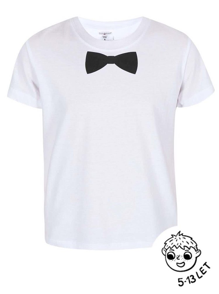 Tricou ZOOT Kids alb cu model pentru băieți