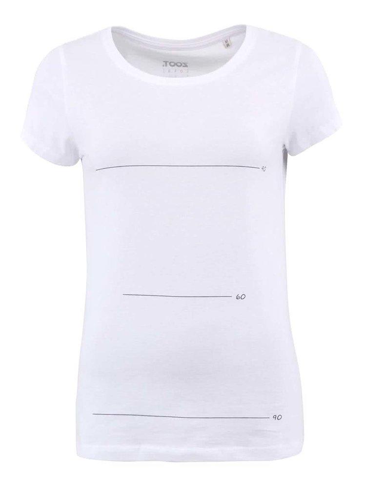 Bílé dámské triko ZOOT Lokál Super Míry
