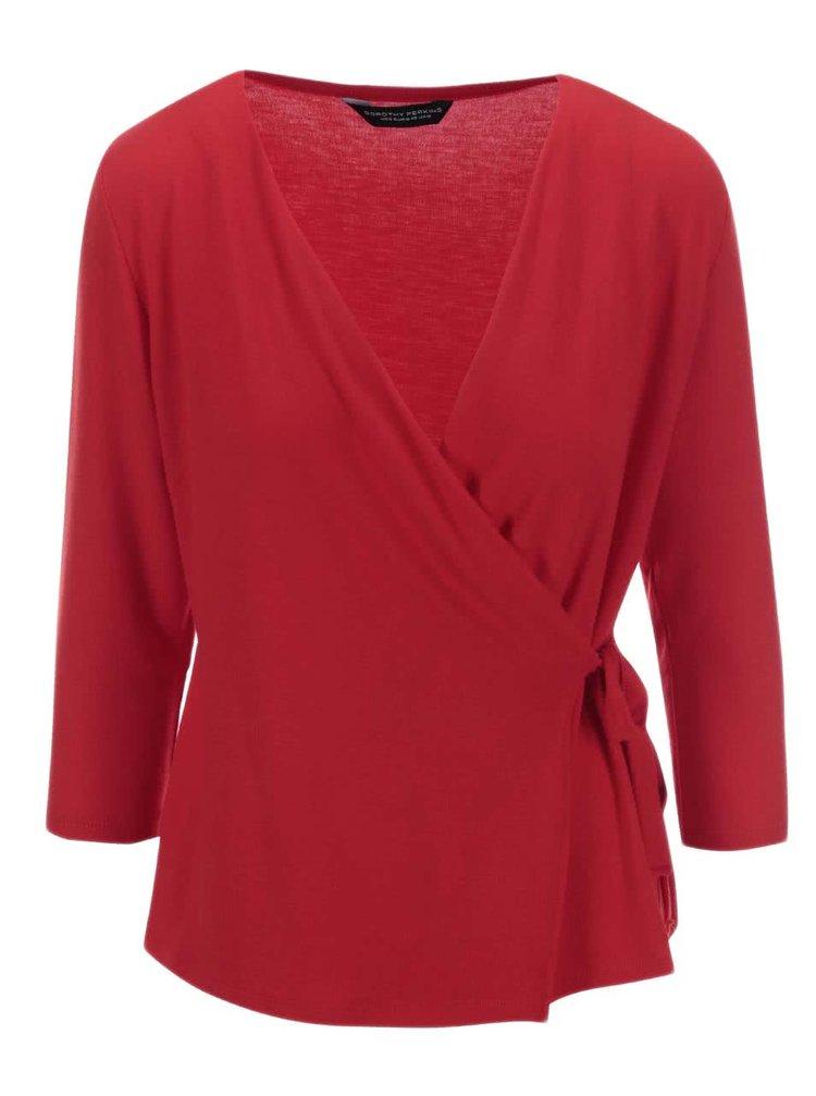 Červené zavinovací tričko Dorothy Perkins
