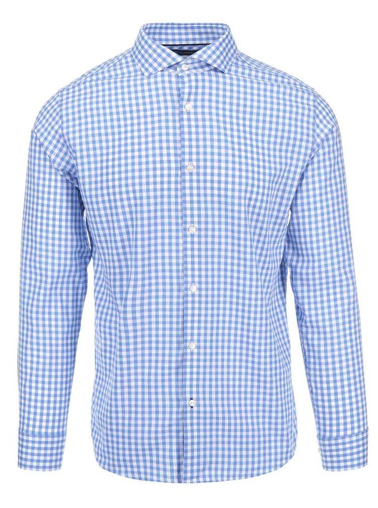Modro-biela kockovaná košeľa Jack & Jones Oscar