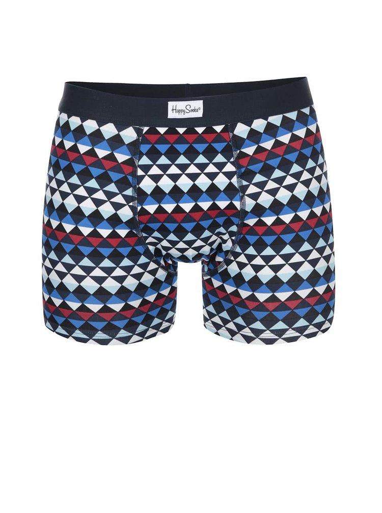 Farebné vzorované boxerky Happy Zig Zag