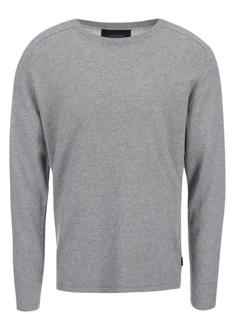 Světle šedý svetr Jack & Jones Simple
