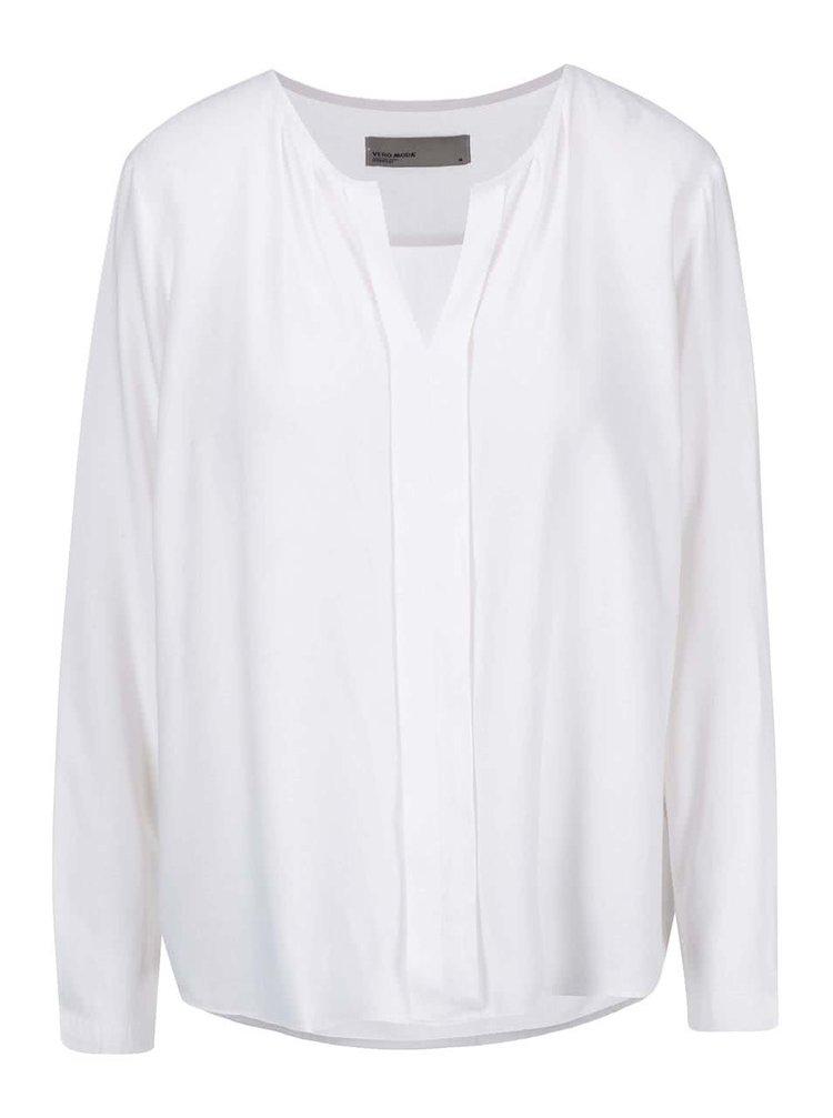 Bluză albă cu mâneci lungi VERO MODA Luca