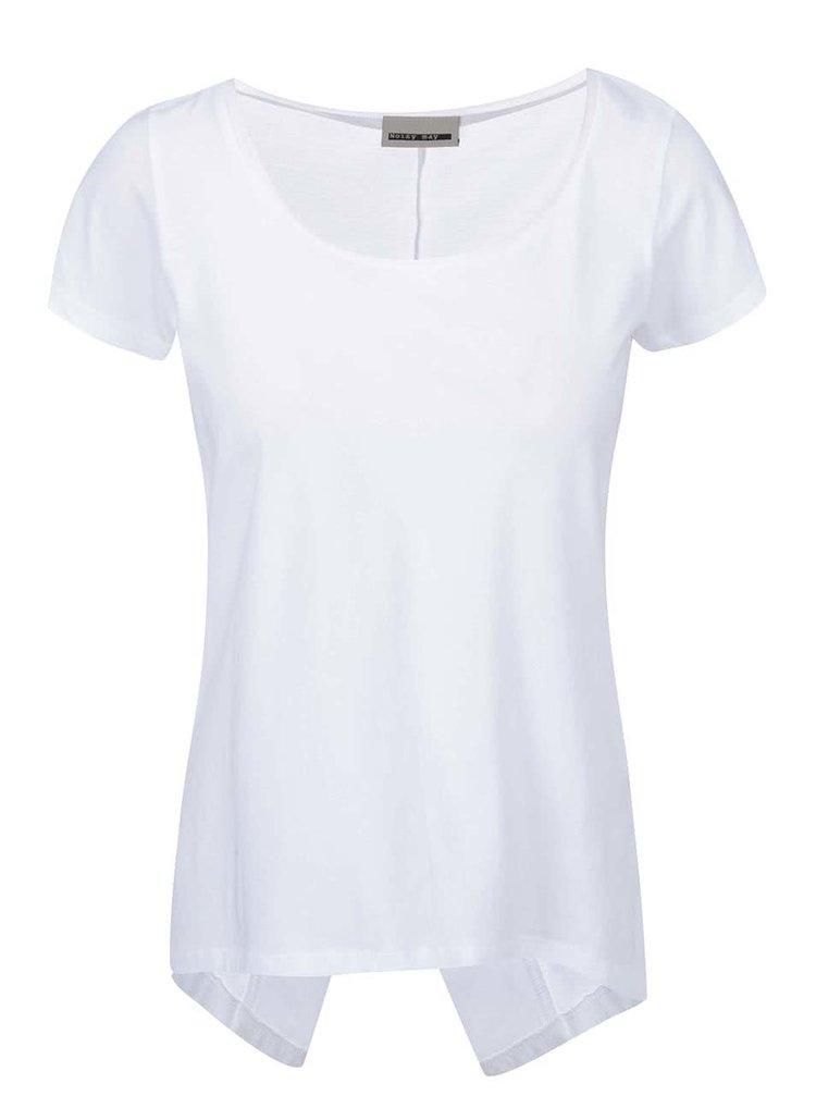 Biely top s asymetrickým chrbtom Noisy May Mono