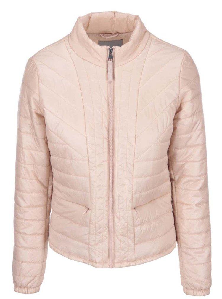Světle růžová prošívaná bunda VERO MODA Fanna