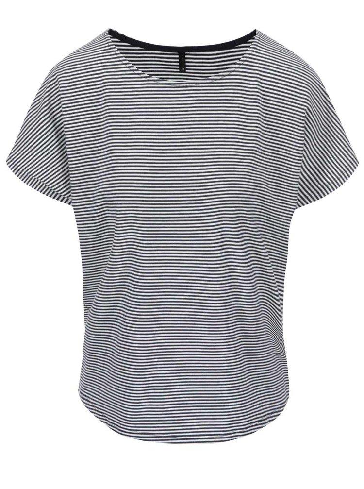 Modro-biele pruhované tričko ONLY Live Love