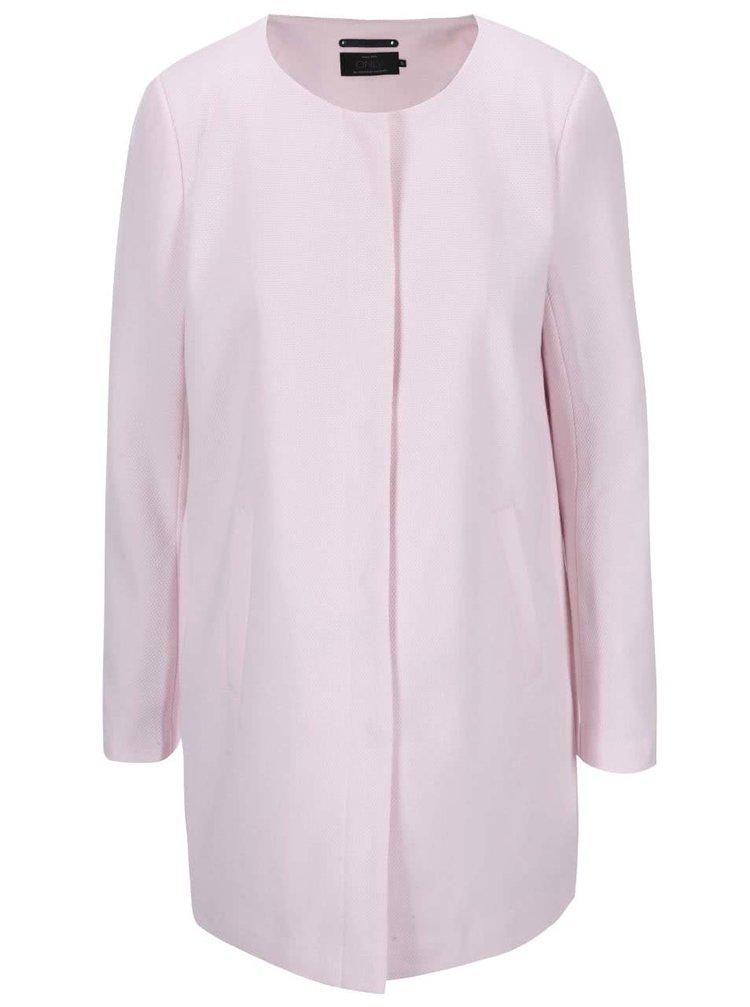 Svetloružový ľahký kabát ONLY Sidney