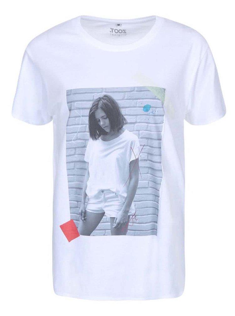 Biele unisex tričko KUBA FERANEC Plakát
