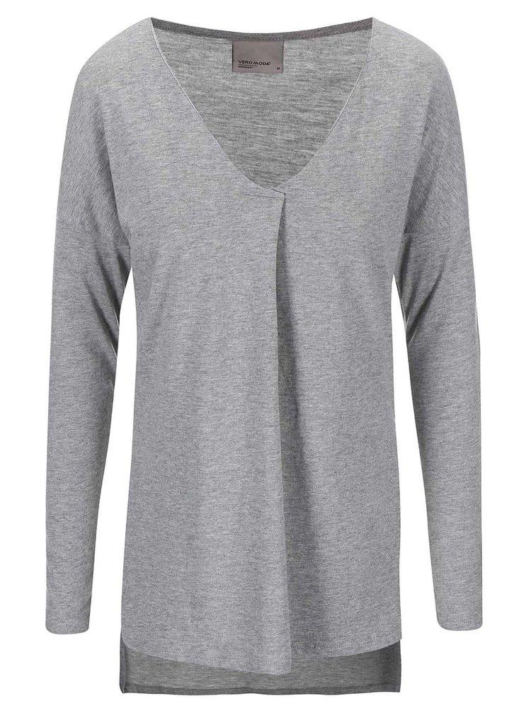 Bluză gri cu mâneci lungi VERO MODA Sue