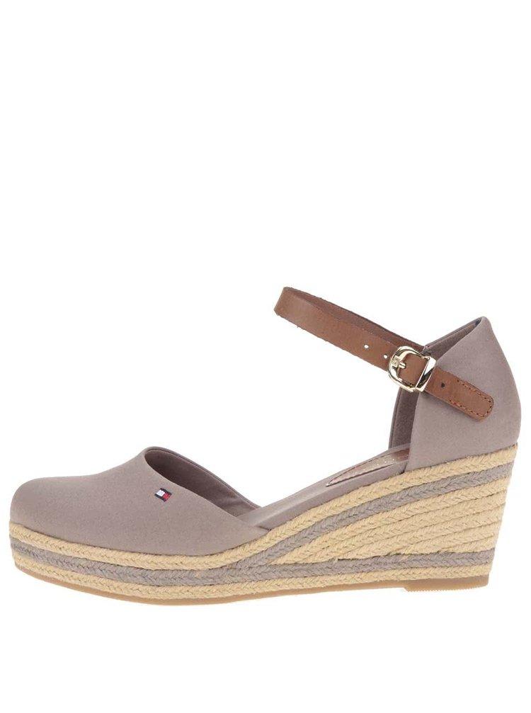Sivé dámske sandále na platforme Tommy Hilfiger