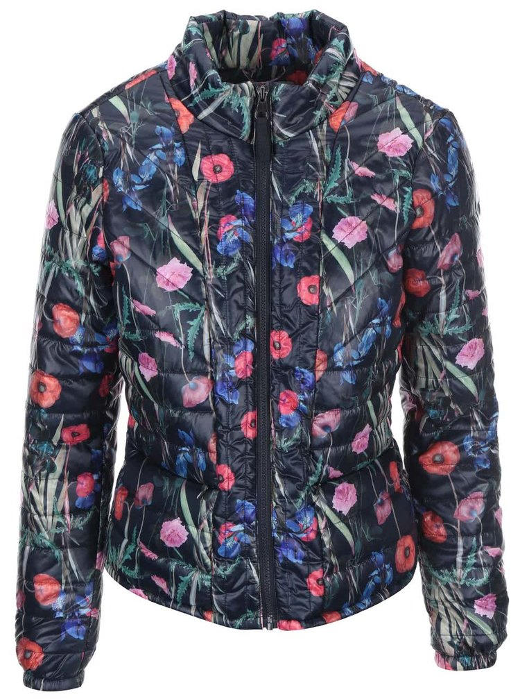Jachetă albastră florală VERO MODA Fanna