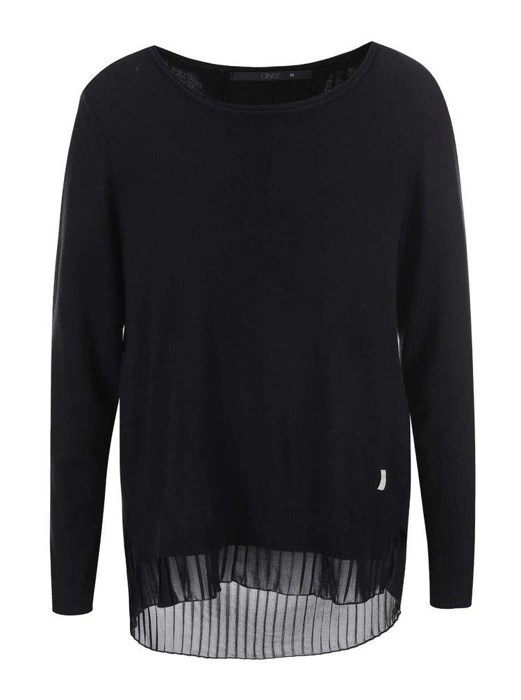 Černý tenký svetr ONLY Lynn