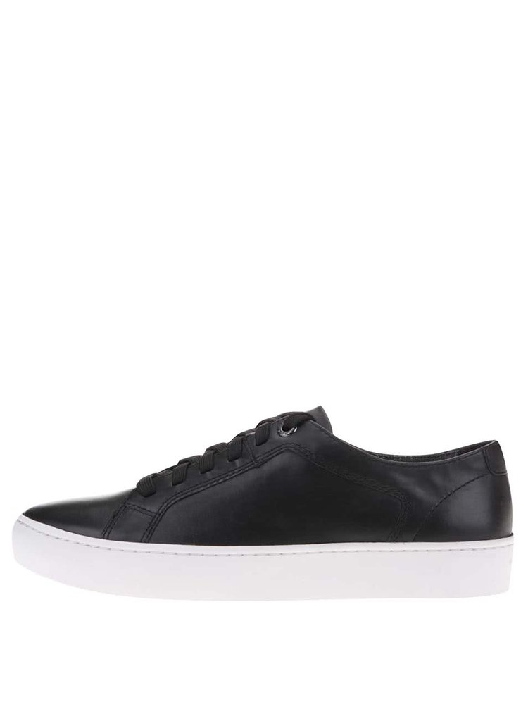Pantofi sport din piele cu platformă albă Vagabond Zoe - negru